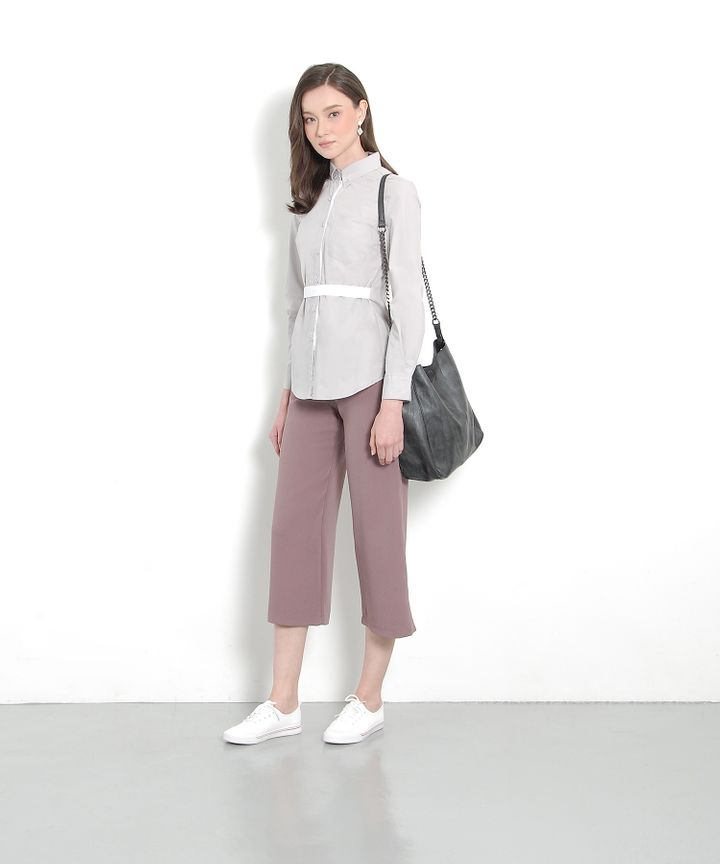 Atelier Belted Shirt - Pale Grey