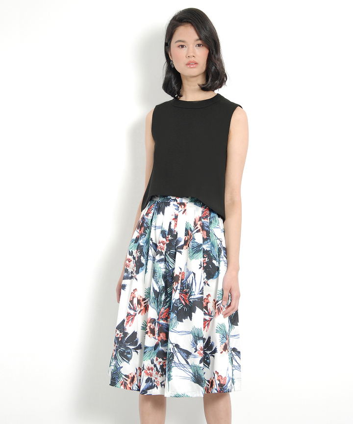Boysenberry Midi Skirt