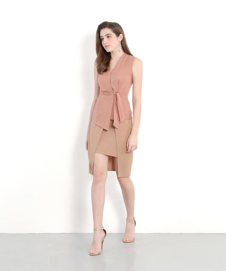 Philosophy Asymmetric Skirt - Tan