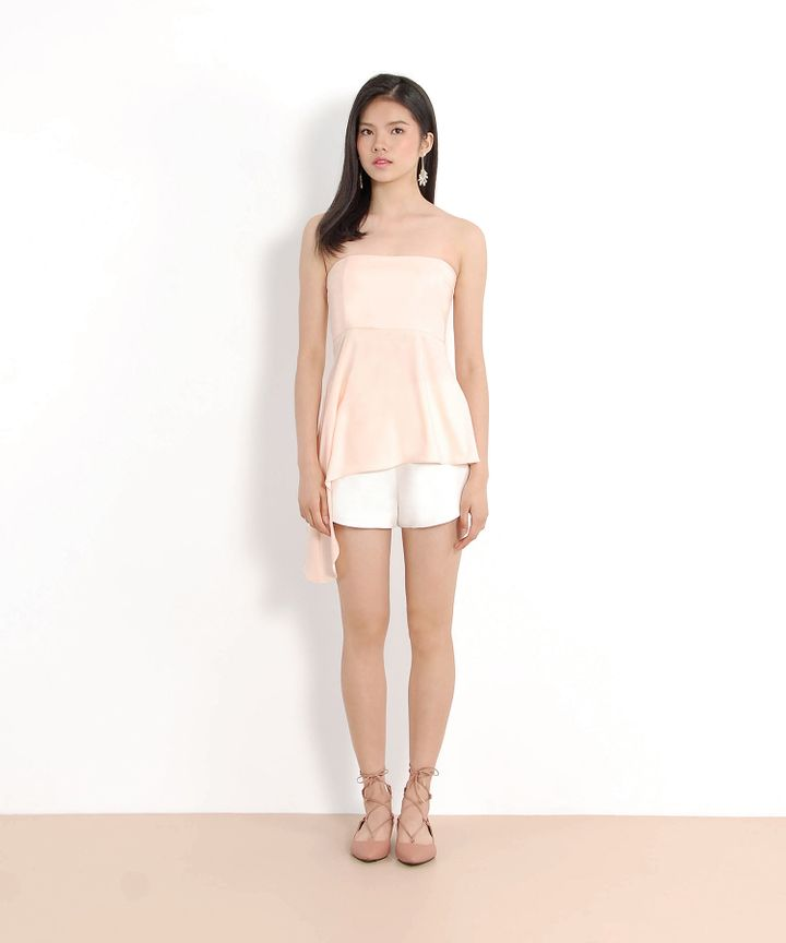 Theo Asymmetrical Top (Pearl Blush)