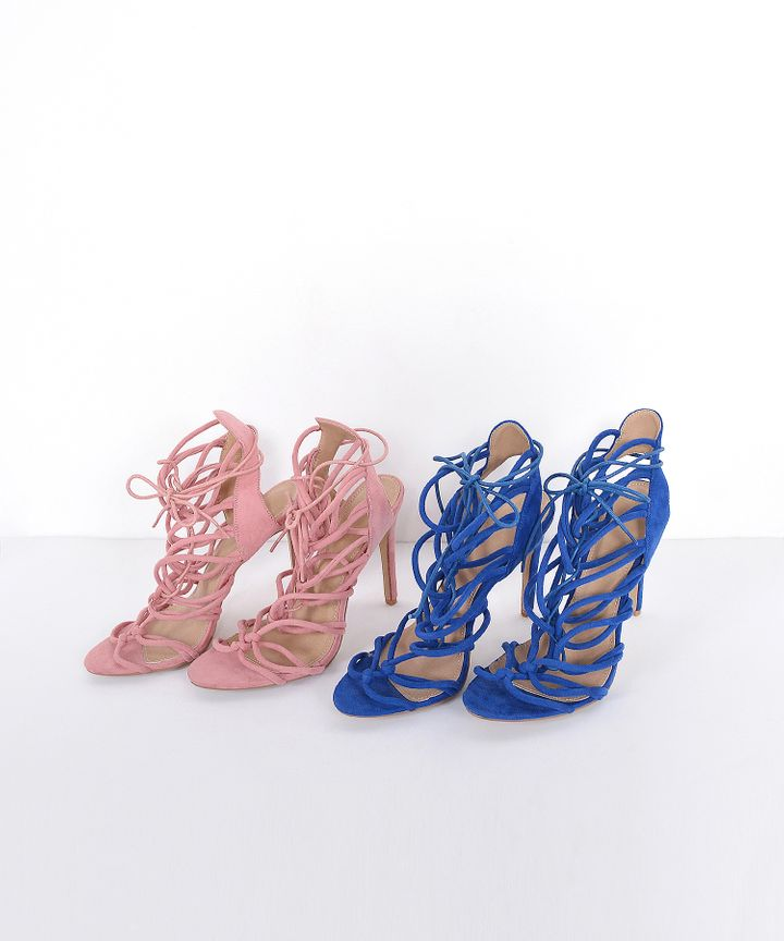 Trisara Lace Up Heels