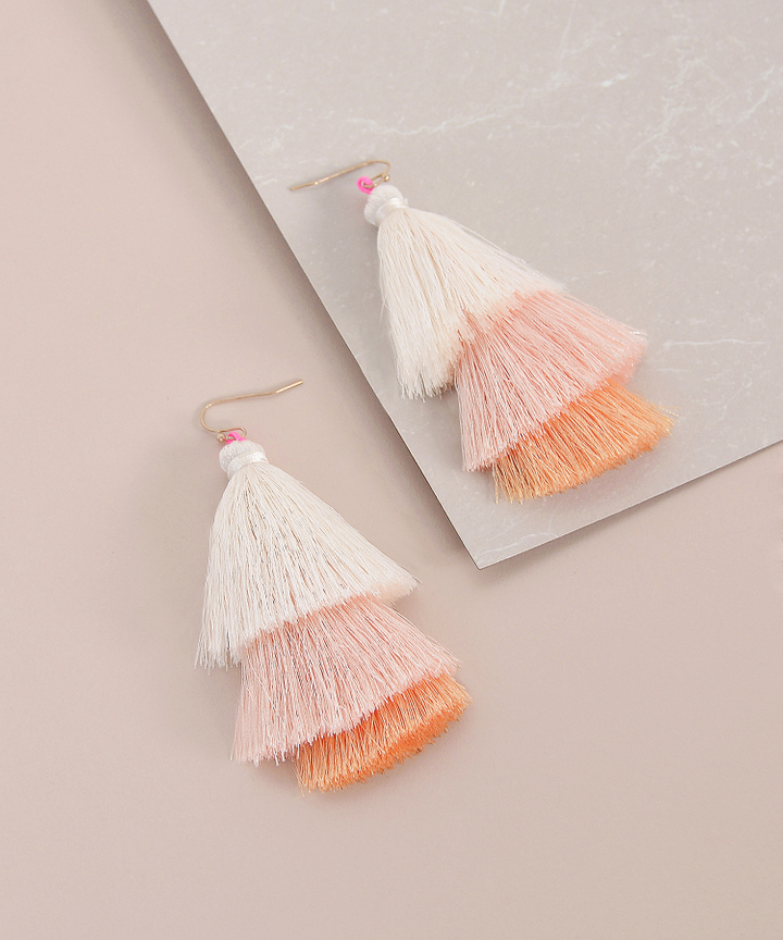 Bondi Tiered Tassel Earrings
