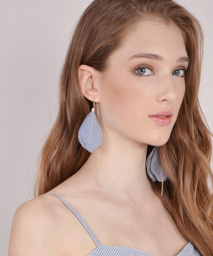 Lark Feather Earrings (Restock)
