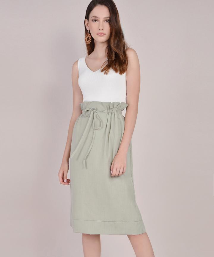 Eliza Paperbag Skirt - Sage
