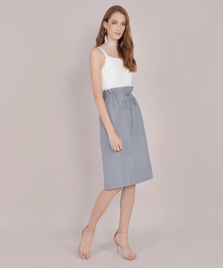 Eliza Paperbag Skirt - Periwinkle Blue