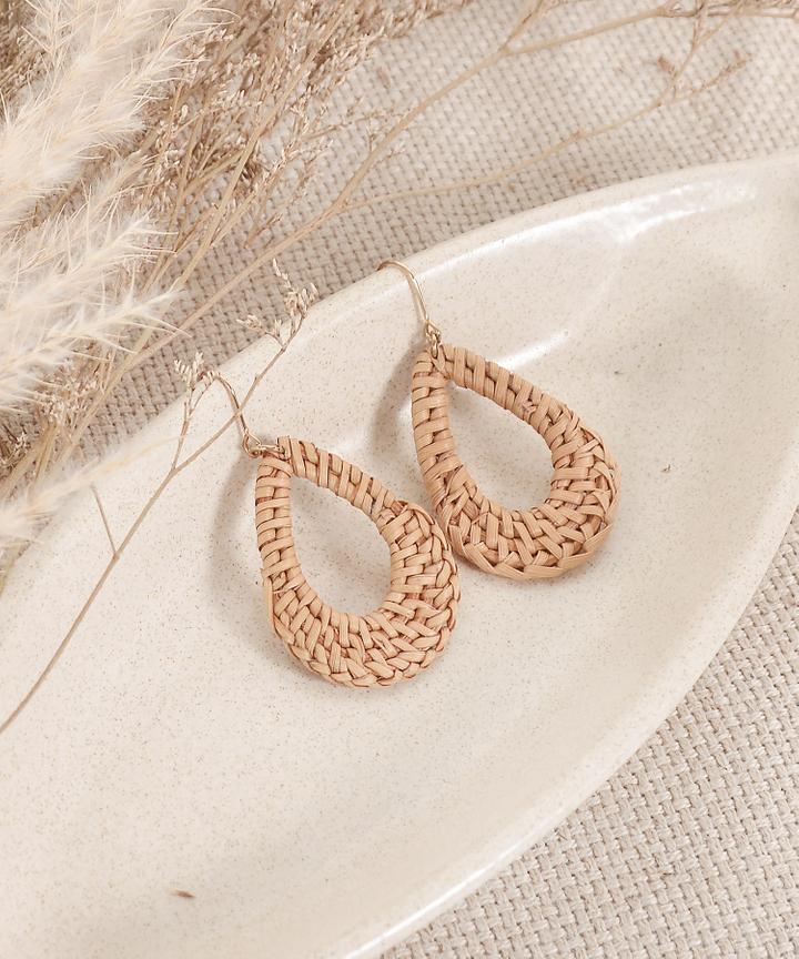 Rattan Teardrop Earrings