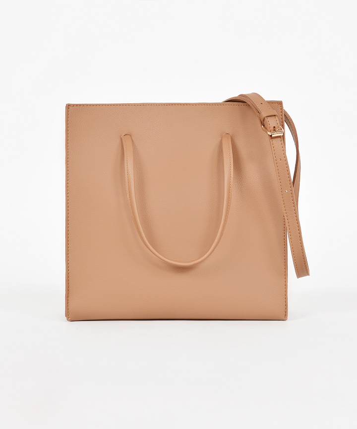 Quincy Convertible Handbag - Brown