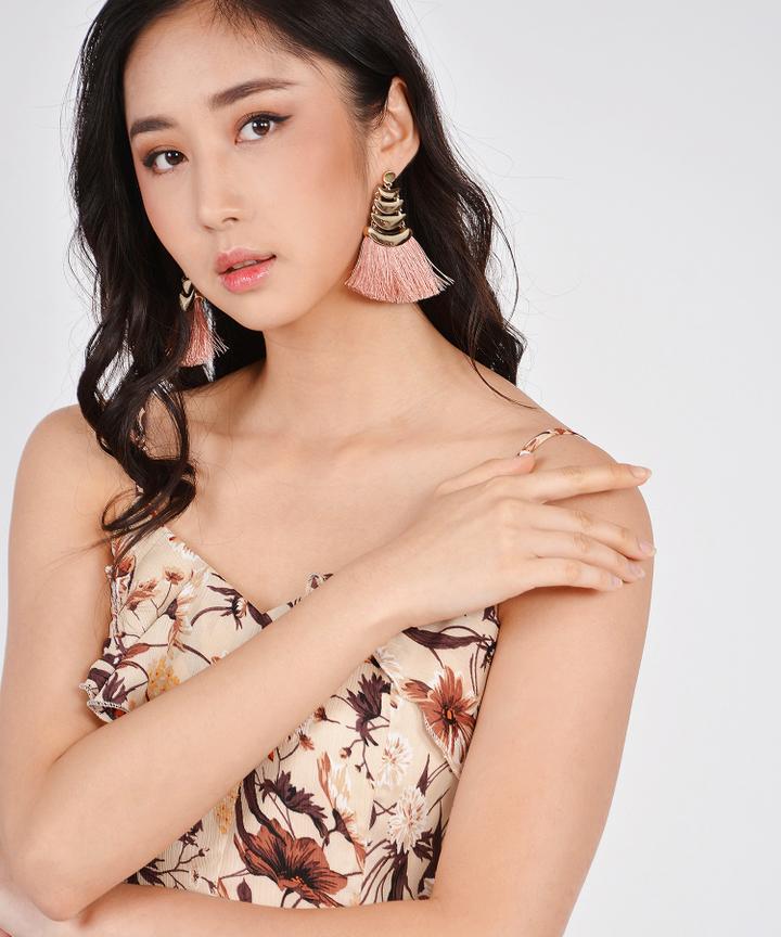 Myth Tassel Earrings - Pink