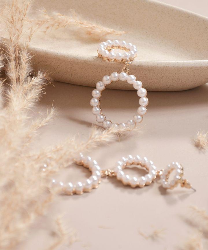 Vinci Drop Circle Earrings (Restock)