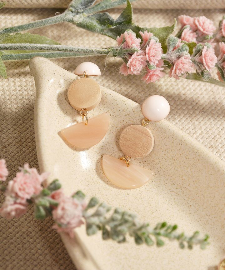 Sundae Semi-Circle Earrings - Sand