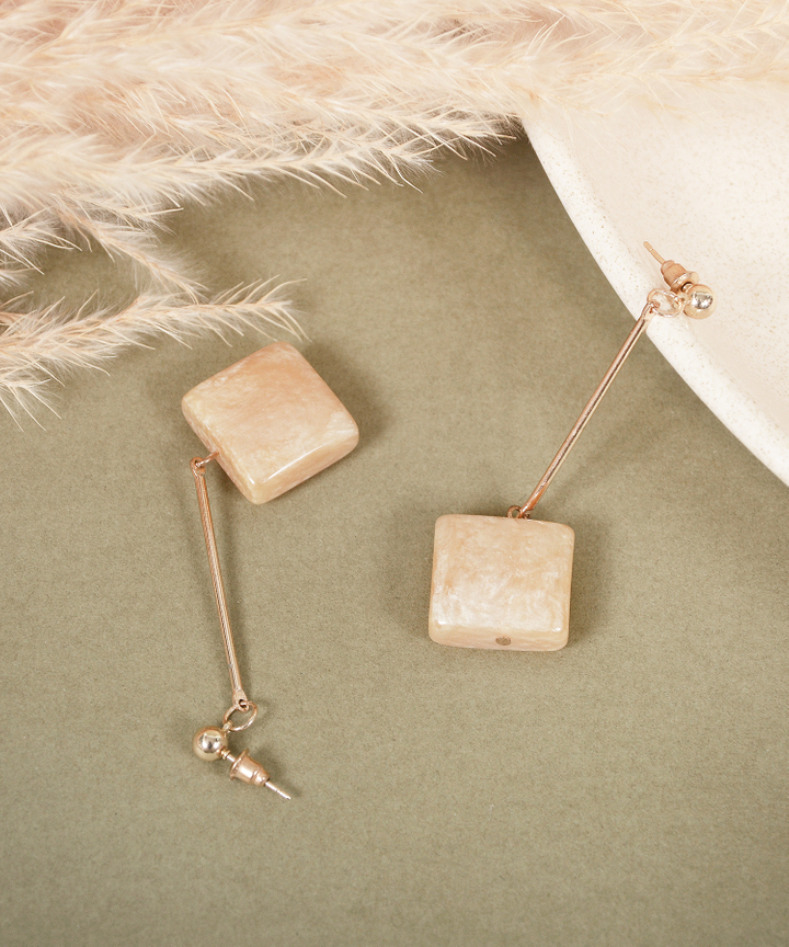 Taffy Square Drop Earrings