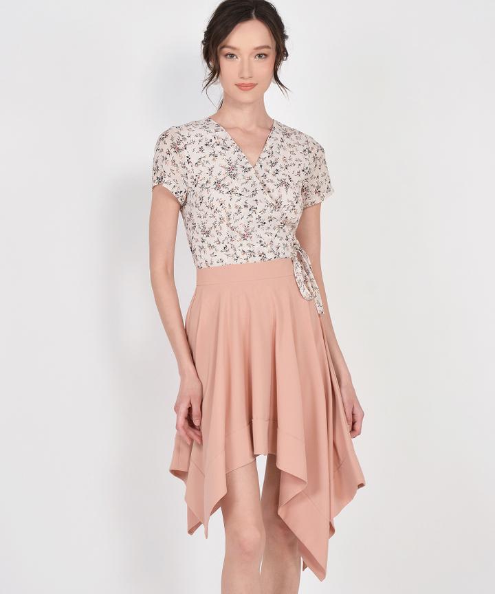 Cascade Asymmetrical Skirt - Blush