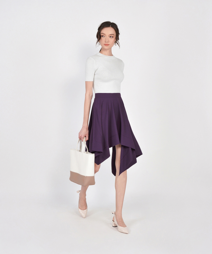 Cascade Asymmetrical Skirt - Royal Purple