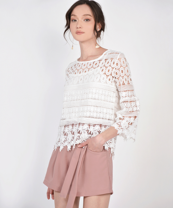 Sheryl Crochet Blouse - White