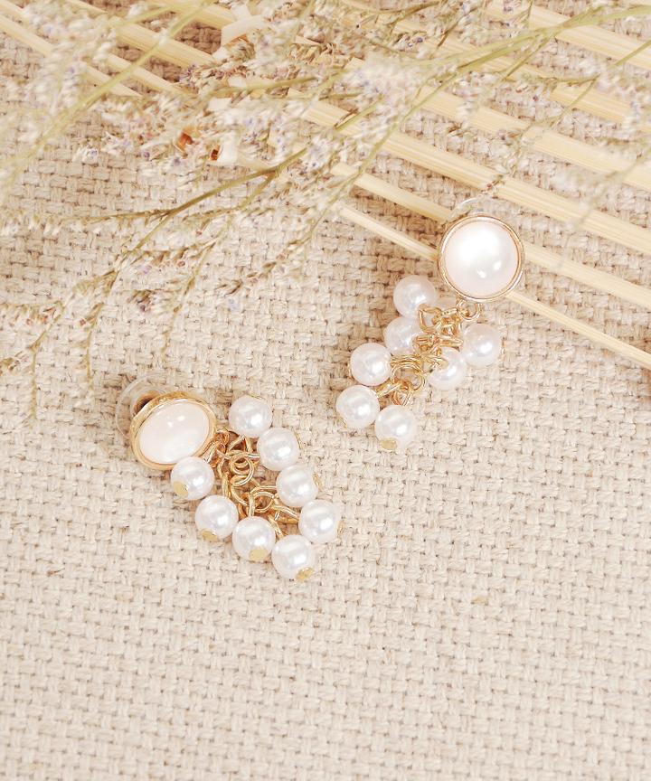 Liz Pearl Cluster Earrings