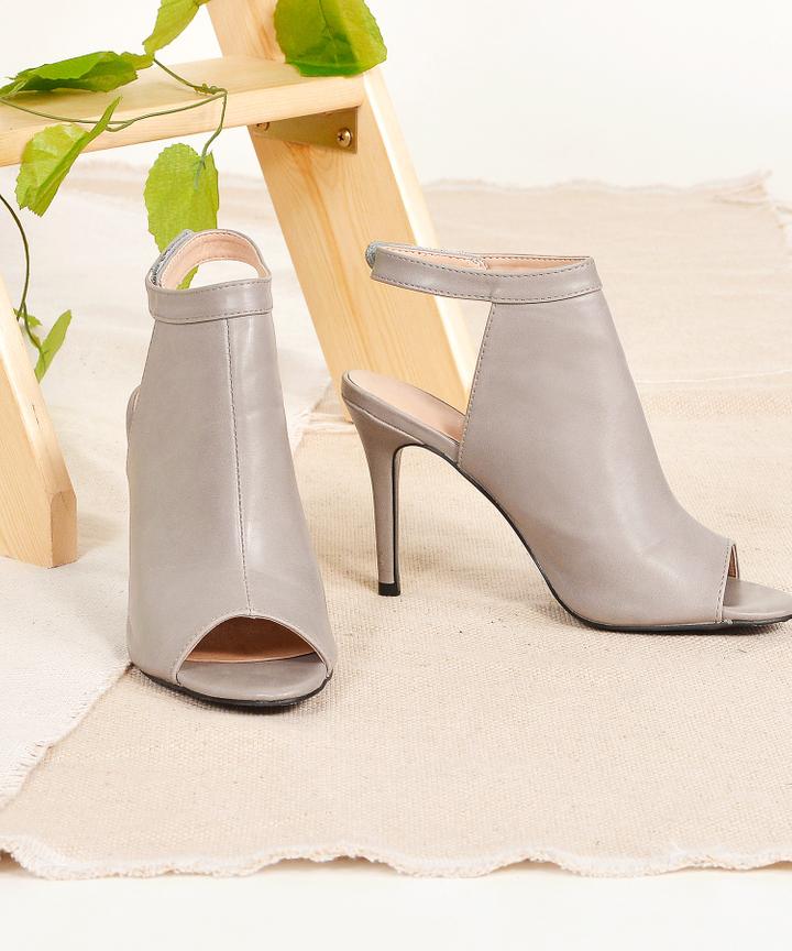 Axel Open-Toe Heels - Grey