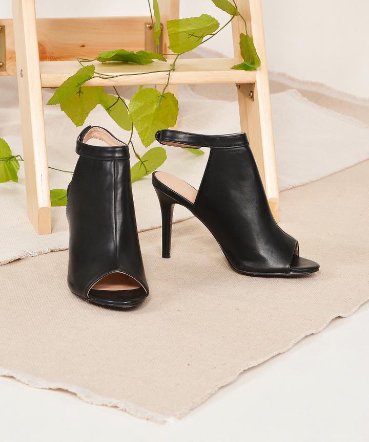 Axel Open-Toe Heels - Black