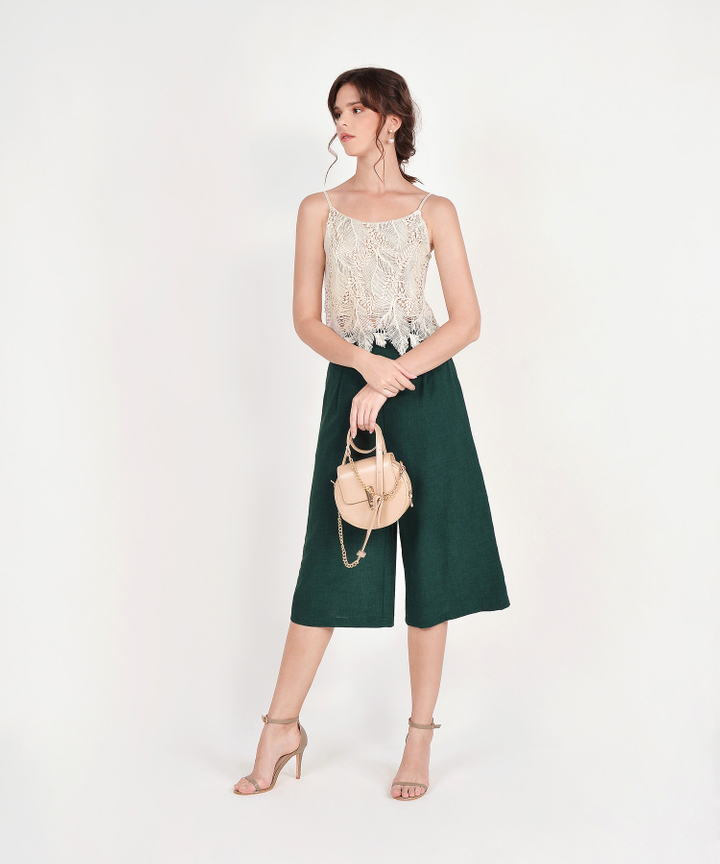 Tanya Culottes - Forest Green