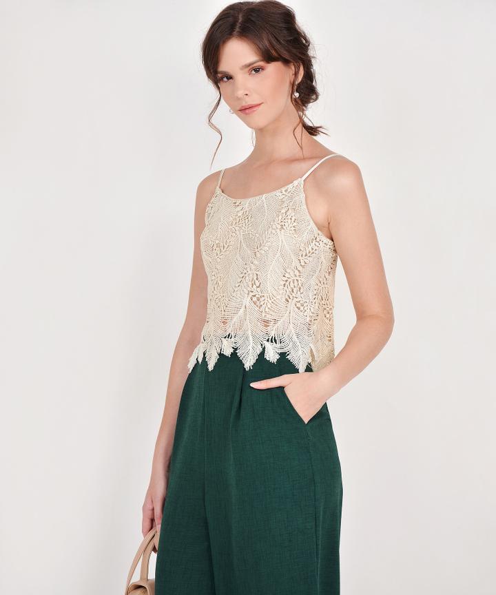 Sophie Crochet Top - Cream