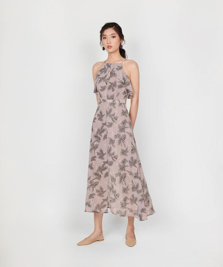 Jacinta Floral Maxi Dress - Lavender