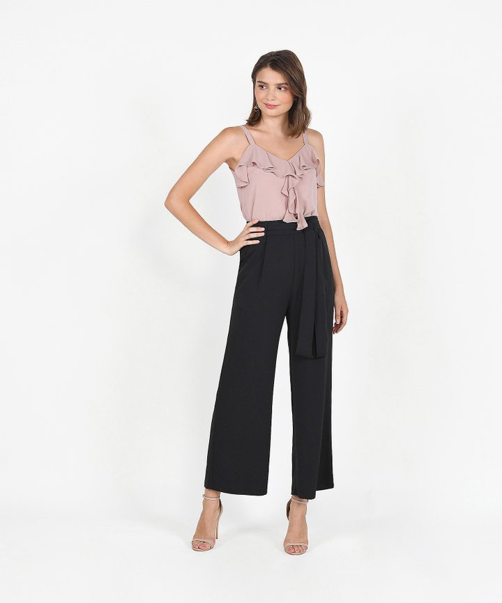 Templeton Wide-Leg Trousers - Black (Restock)