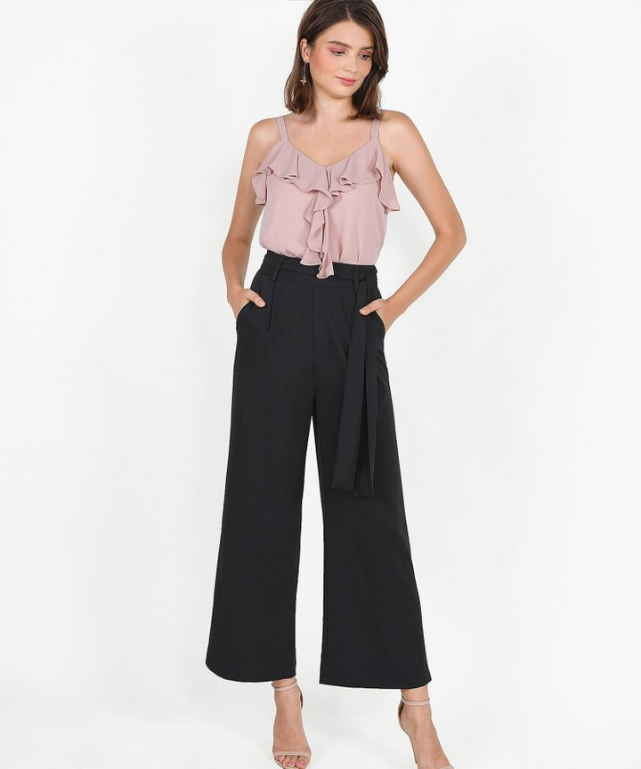 Keira Ruffle Top - Dust Pink