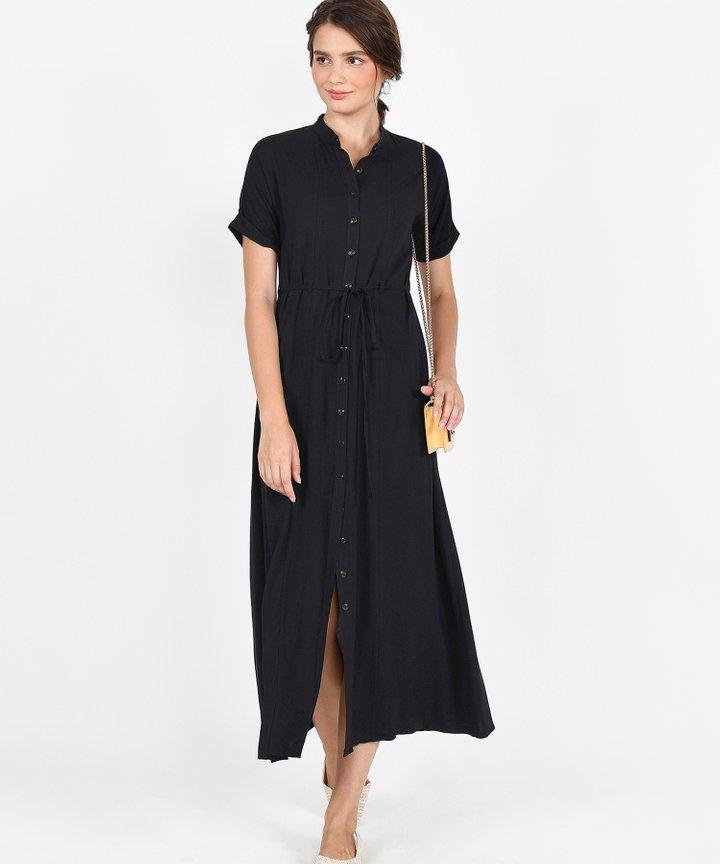 Joie Maxi Shirtdress - Black