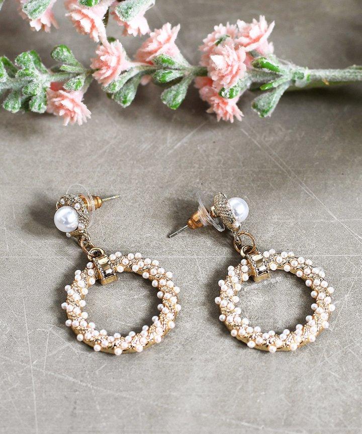 Mille Pearl Circle Earrings