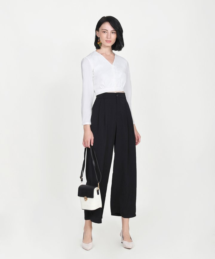 Adelaide Wide Leg Pants - Black