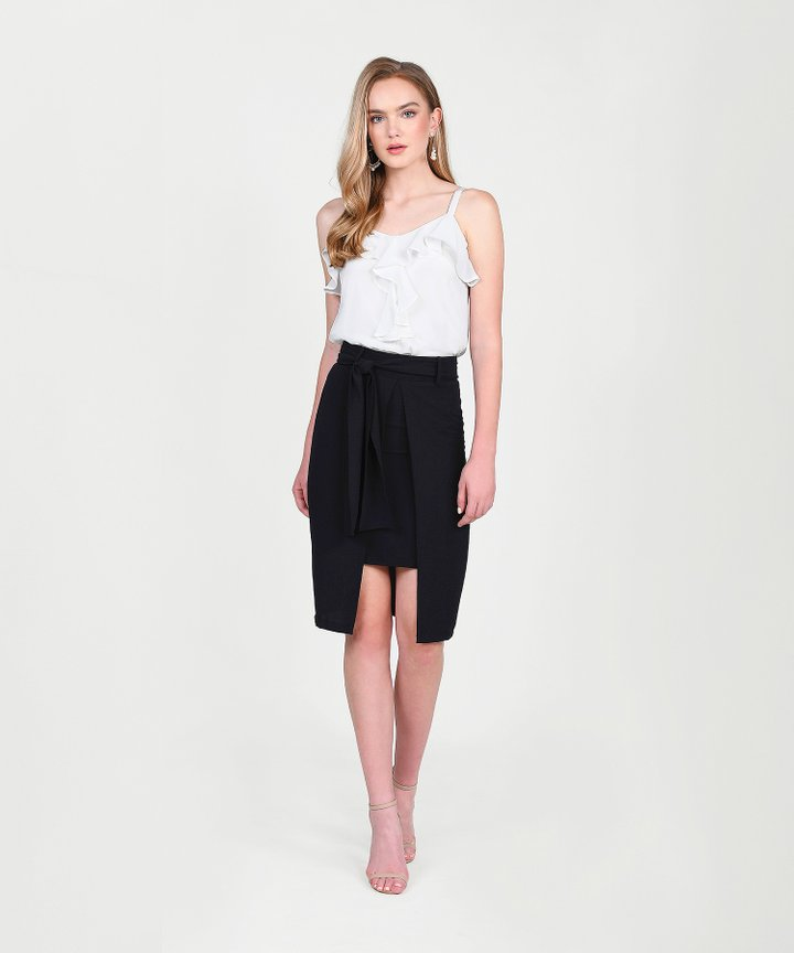 Philosophy Asymmetric Skirt - Black
