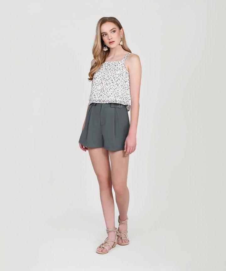 Viola Buckle Shorts - Mediterranean Teal