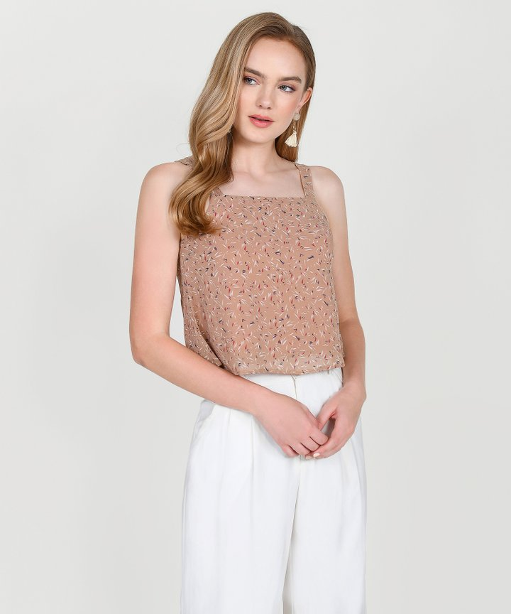 Cabana Printed Top - Rose Tan
