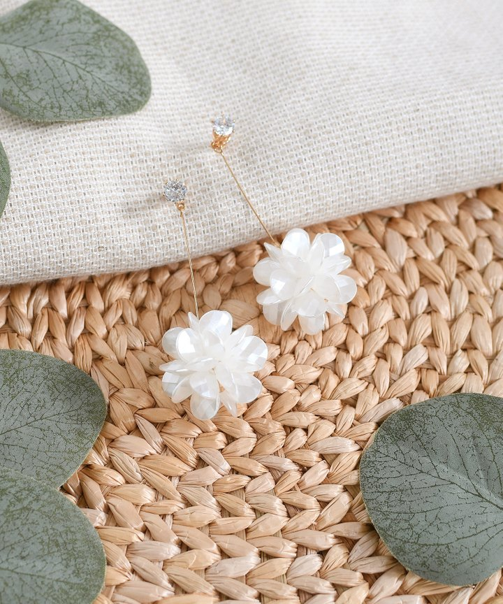 Sorbet Earrings - White