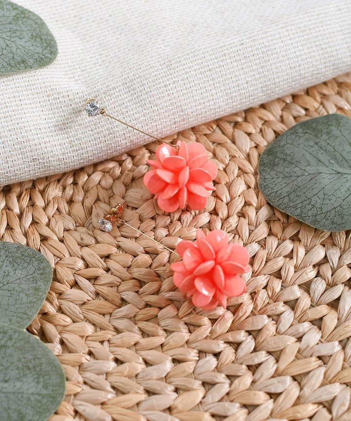 Sorbet Earrings - Coral