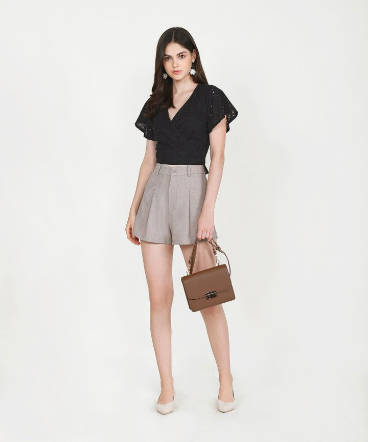 Axel Belted Shorts - Pale Taupe (Restock)