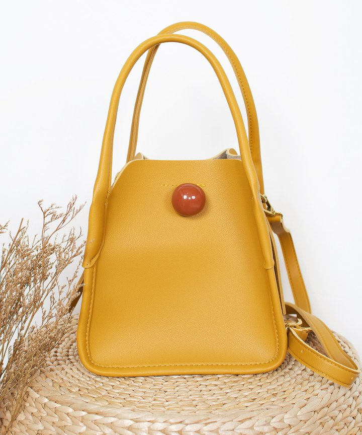 Maxime Dome Bag - Mustard