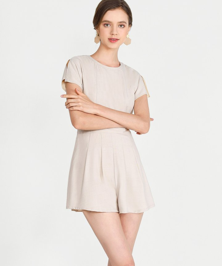 Axel Playsuit - Pale Sand