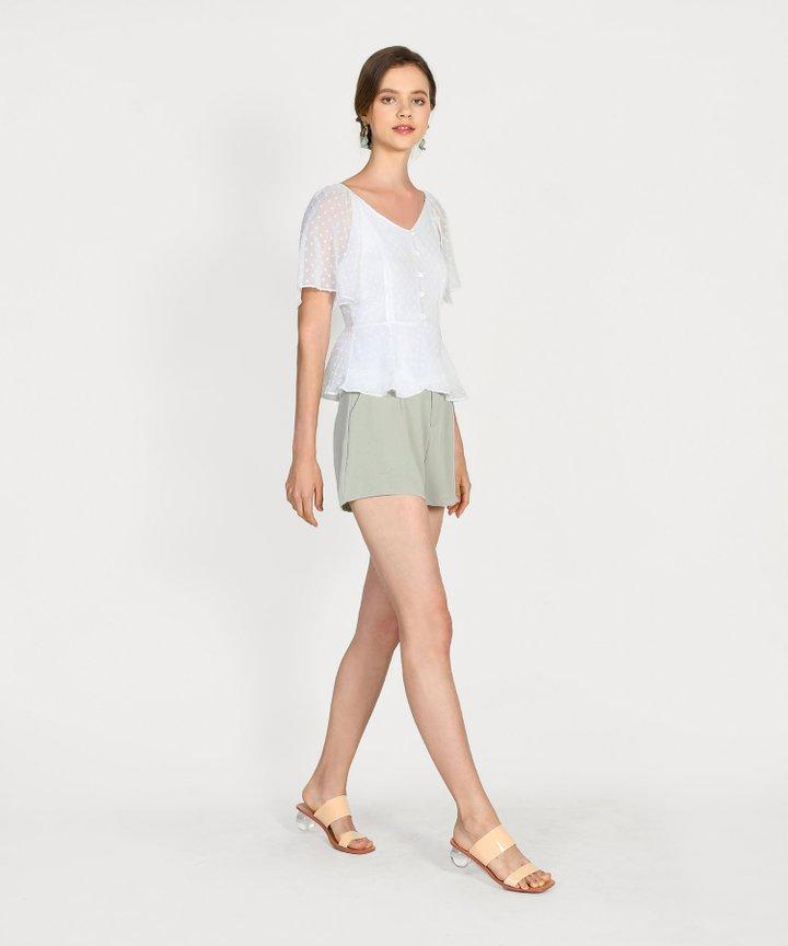 Joie Classic Shorts - Pale Sage