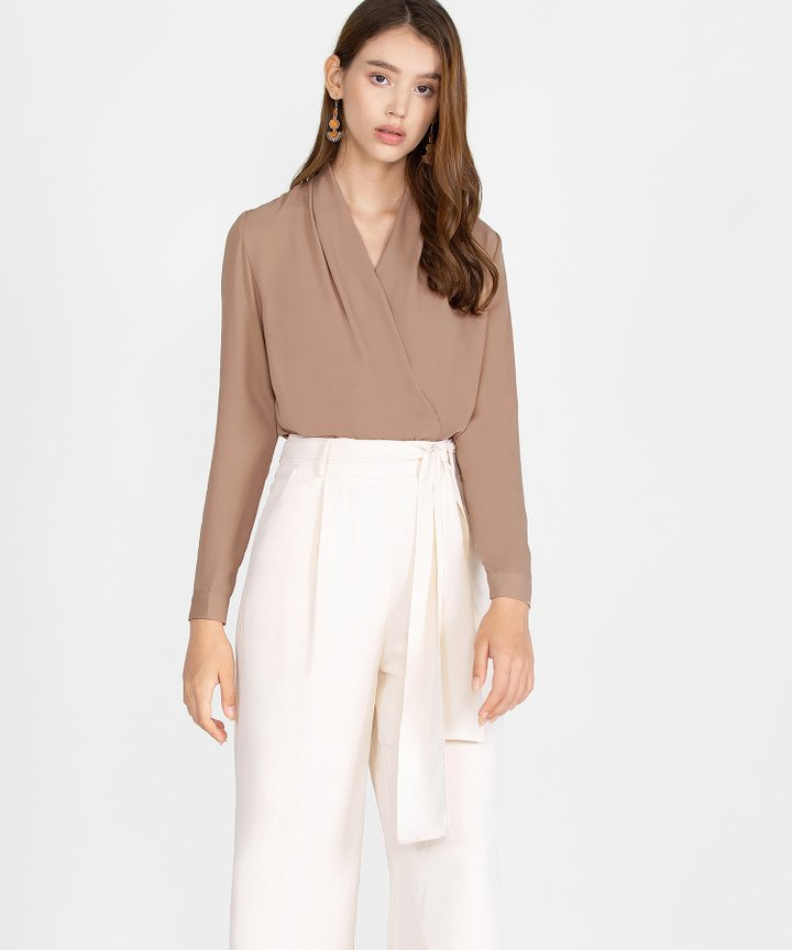 Emory Overlay Blouse - Toffee