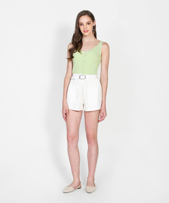 Iro Knit Camisole - Pear Green