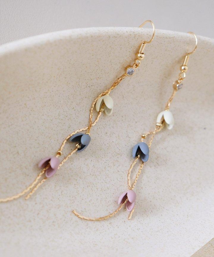 Kinship Pastel Floral Drop Earrings