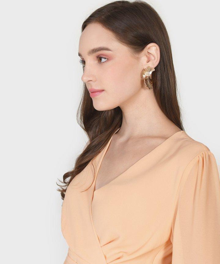 Panettiere Petal Statement Earrings - Gold