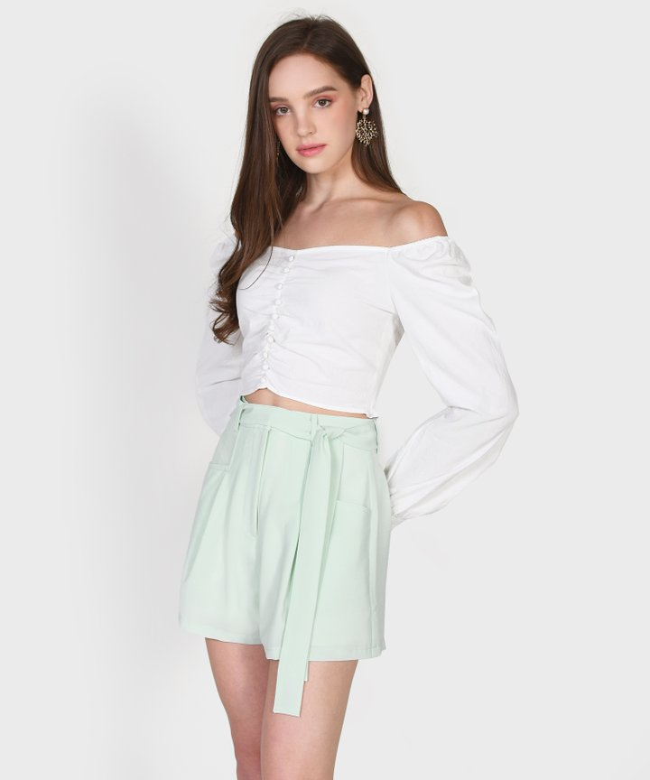 Henrietta Cropped Blouse - White