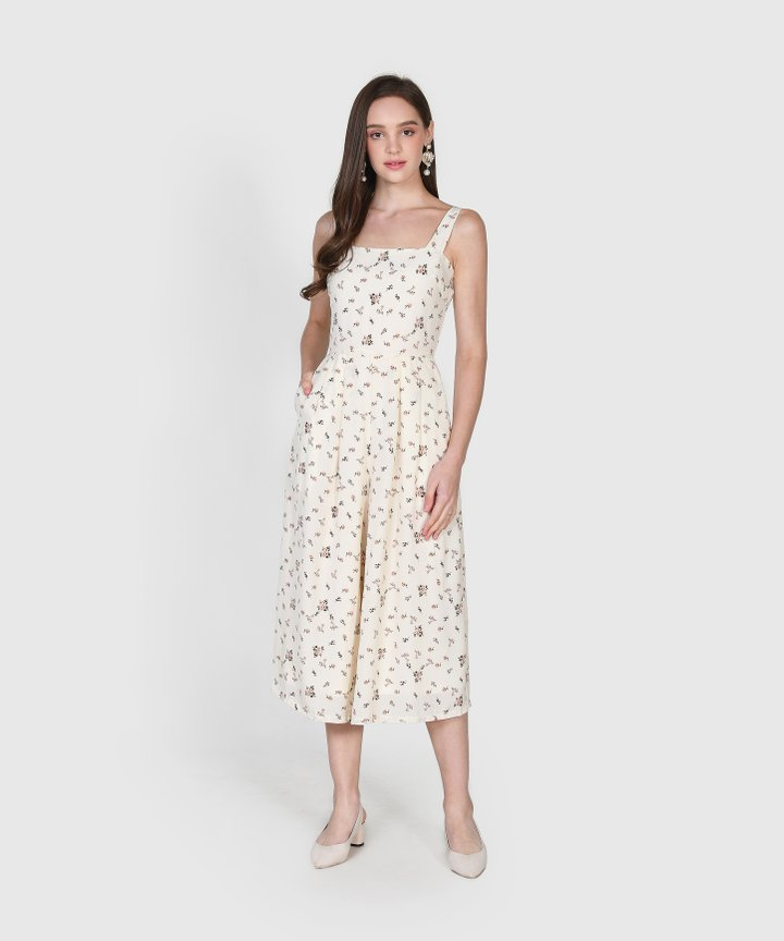 Minetta Floral Jumpsuit - Cream