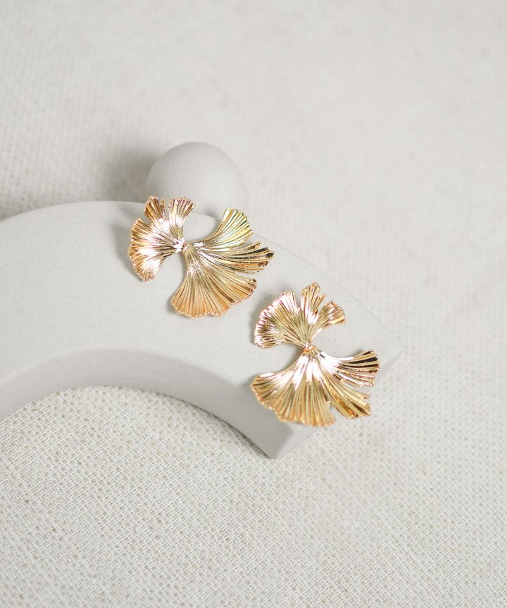 Panettiere Petal Statement Earrings - Gold