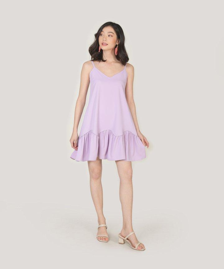 Elyse Drop Hem Dress - Lilac