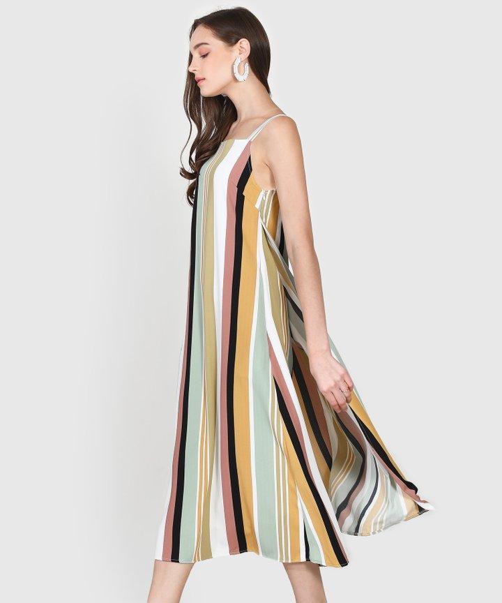 Nicolette Striped Maxi Dress - Seafoam