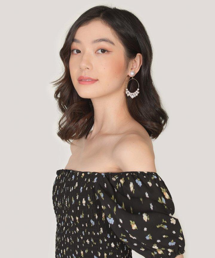 Preen Pearl Hoop Earrings