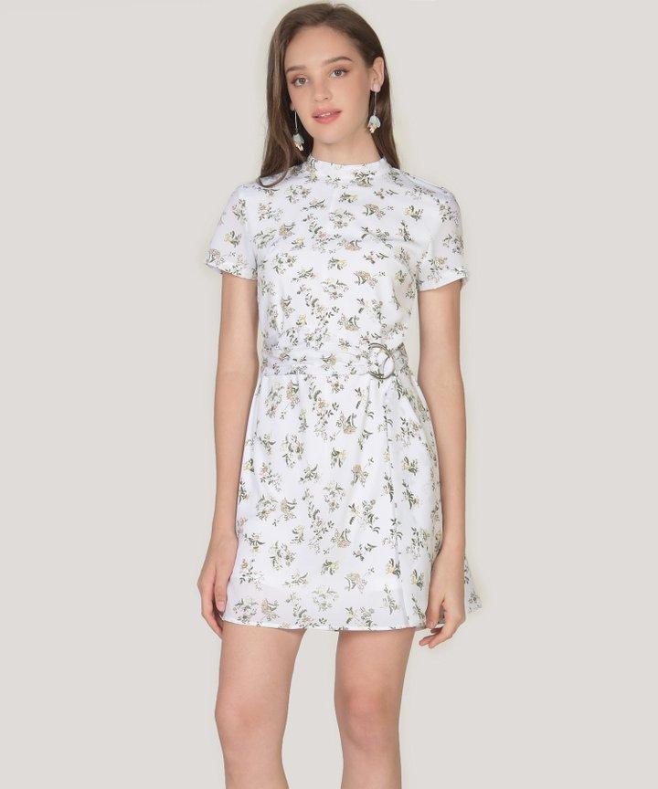 Annalie Floral Playsuit - White