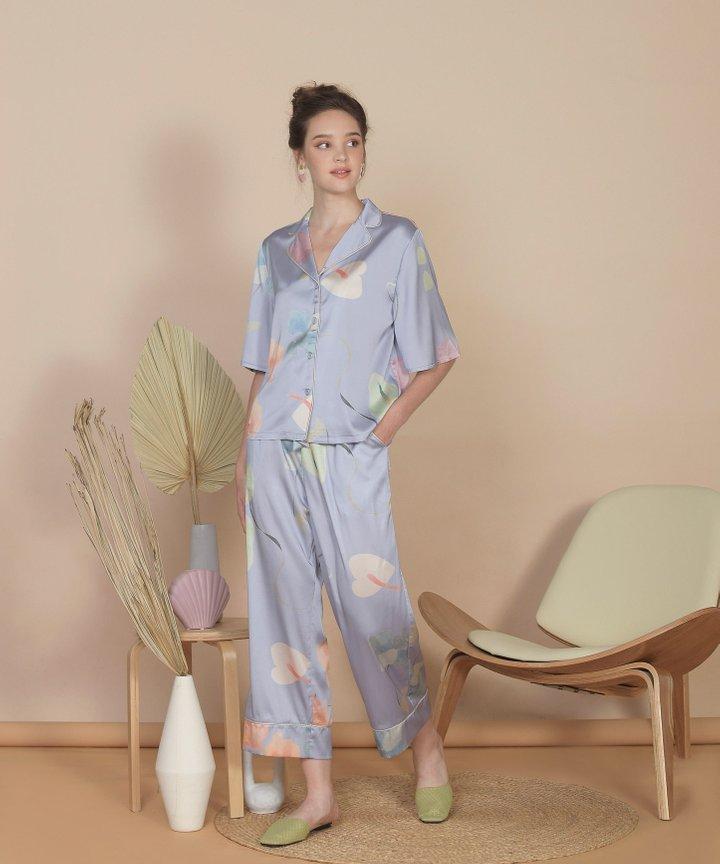 Bellflower Cropped Pants - Hydrangea Blue (Restock)